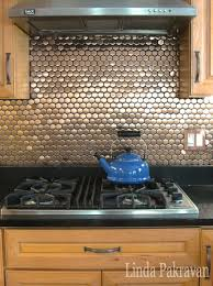 kitchen interactive small kitchen decoration using mosaic copper