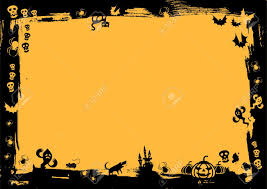 black border in yellow background for halloween royalty free