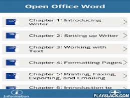 openoffice for android openoffice writer tutorial android app playslack