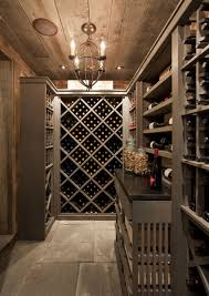 rustic modern wine room by philip gorrivan spaces lounge pour