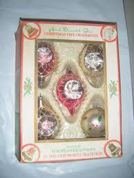 lot 6 5 vtg commodore hand decorated romania glass christmas tree