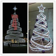 Metal Father Christmas Decorations by Factory Price Giant Led Artificial Spiral Christmas Tree Led