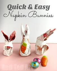 easter napkins how to fold a bunny napkin for easter ted s