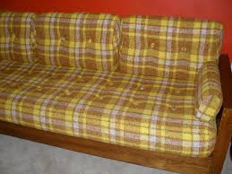 fabulous mid century 70 u0027s plaid sofa daybed sold sold sold