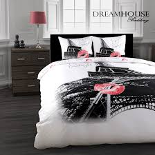 eiffel tower girls bedding bedroom design cute paris themed bedding on black metal bed and