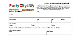 party city application employment form u0026 job interview tips