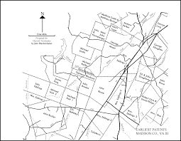Madison Ohio Map by First Patents Of Land In Madison County Va Germanna Colonies Map