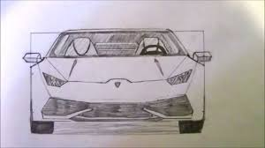 lamborghini sketch how to draw a lamborghini huracan youtube