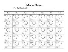 6 best images of moon phases blank calendar calendar moon phase