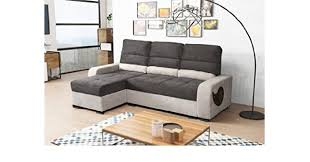 Yale Sofa Bed Dante Black And Grey Fabric Corner Sofa Bed Couch With Storage