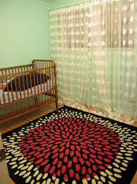 Pink Rug For Nursery Bright Pink Black White Rug Ikea W Mint Walls And White Polka Dot