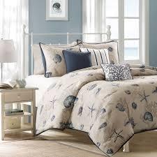 Beachy Comforters Bedding Nautical Bedding Montego Bay Seashell Duvet Cover By