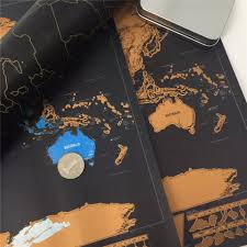 World Scratch Map by Scratch Off World Map Poster