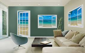 at the beach 80 white paneled door mural lh 42