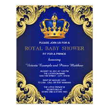 royal blue and gold baby shower fancy prince baby shower blue and gold card zazzle