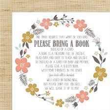 book baby shower invitation wording