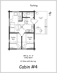 free small log cabin floor plans