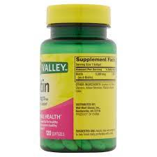 Average Hair Loss Per Day Spring Valley Biotin Softgels 5000mcg 120 Ct Walmart Com