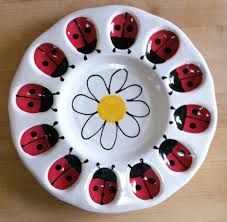 deviled eggs plates deviled egg plate ladybugs ladybug and images