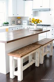 How To Build A Kitchen Island With Seating by Diy Kitchen Benches Farmhouse Style Kitchen Kitchen Benches And
