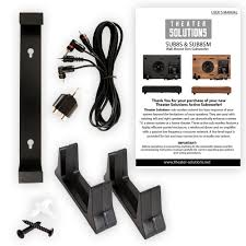 powered home theater subwoofer theater solutions sub8sm home theater powered 8