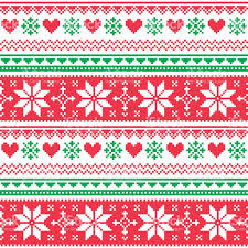 christmas patterns nordic seamless knitted christmas and green pattern stock vector