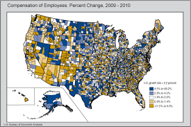 us bureau of economic analysis bea release county compensation by industry 2010