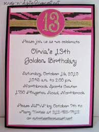 golden birthday invitation for 13 year old party