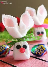 Easter Decorations On Sticks by Easter Craft Idea Cadbury Creme Egg Bunnies Easter Crafts