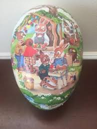 paper mache easter eggs vintage nestler white paper mache easter eggs containers made in