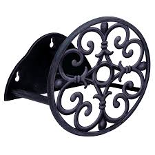 shop garden treasures steel 100 ft wall mount hose reel at lowes com