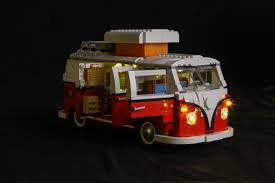camper van lego light my bricks volkswagen t1 camper van led lighting kit