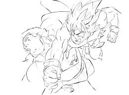goku superman sketch