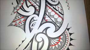 awesome maoristyle drawing handdrawn tribal tattoo with promarker
