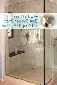 Water Stains On Glass Shower Doors Concrete Cleaner Lowes Best Glass Shower Door Cleaner Bathroom