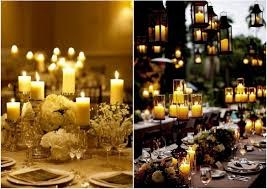 wedding reception centerpieces candles decorating of party