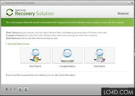 samsung recovery solution screenshots