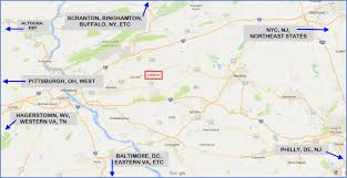 Pennsylvania Turnpike Map by Lebanon Pa Railfan Guide