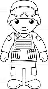 soldier coloring page for kids stock vector art 486267328 istock