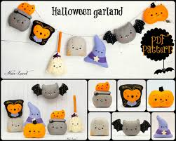pdf pattern halloween garland owl cauldron broom