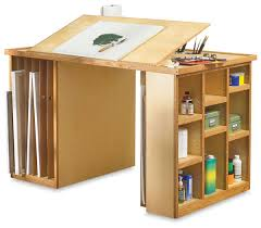 Drafting Craft Table Really Handy Basic Work Station With Canvas And Sketchpad Storage