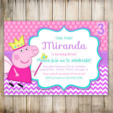 peppa pig birthday party accessories new invitations pinterest