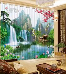 Curtains For Livingroom Online Get Cheap 3d Curtains For Living Room Aliexpress Com