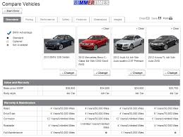 bmw competition comparison tool on bmw website bimmertimes