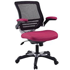 amazon com modway edge mesh back and red mesh seat office chair