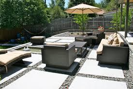 Concrete Landscaping Houzz - Concrete backyard design ideas