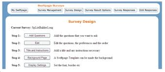 survey design email marketing help and support information swiftpage