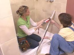 How To Install A Shower Door On A Bathtub Installing A Glass Shower Door How Tos Diy