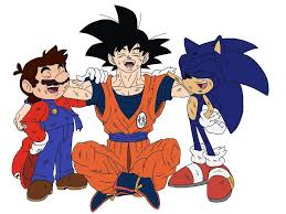 sonic meets ish cartoon characters sonic hedgehog