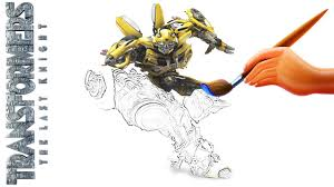 bumblebee transformers the last knight coloring book video for